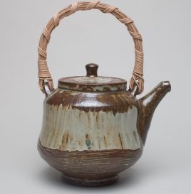 Teapot with Woven Cane Handle
