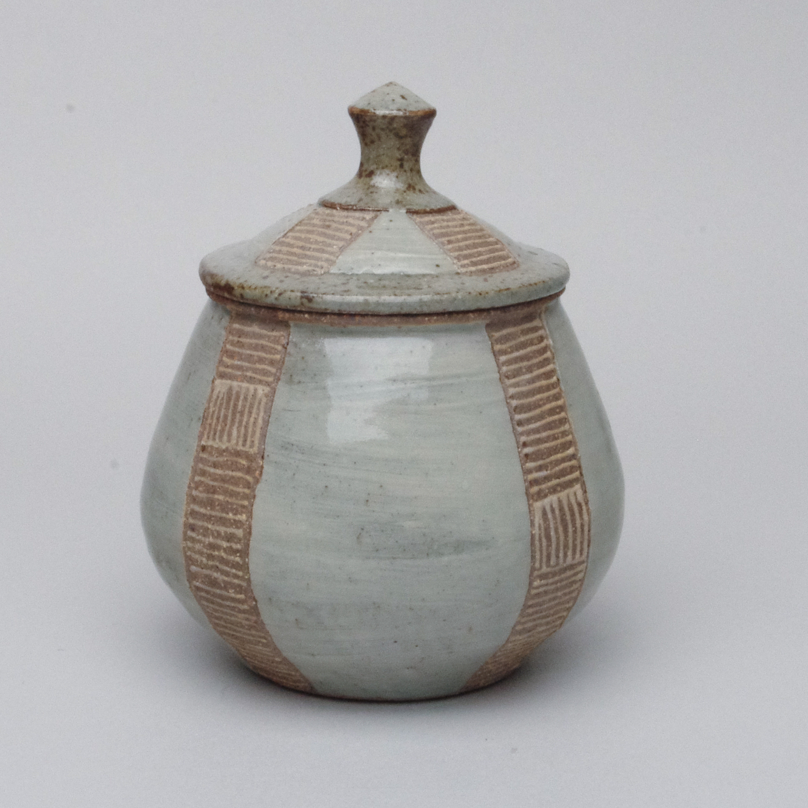 Slip Trailed and Ying Ching Glaze