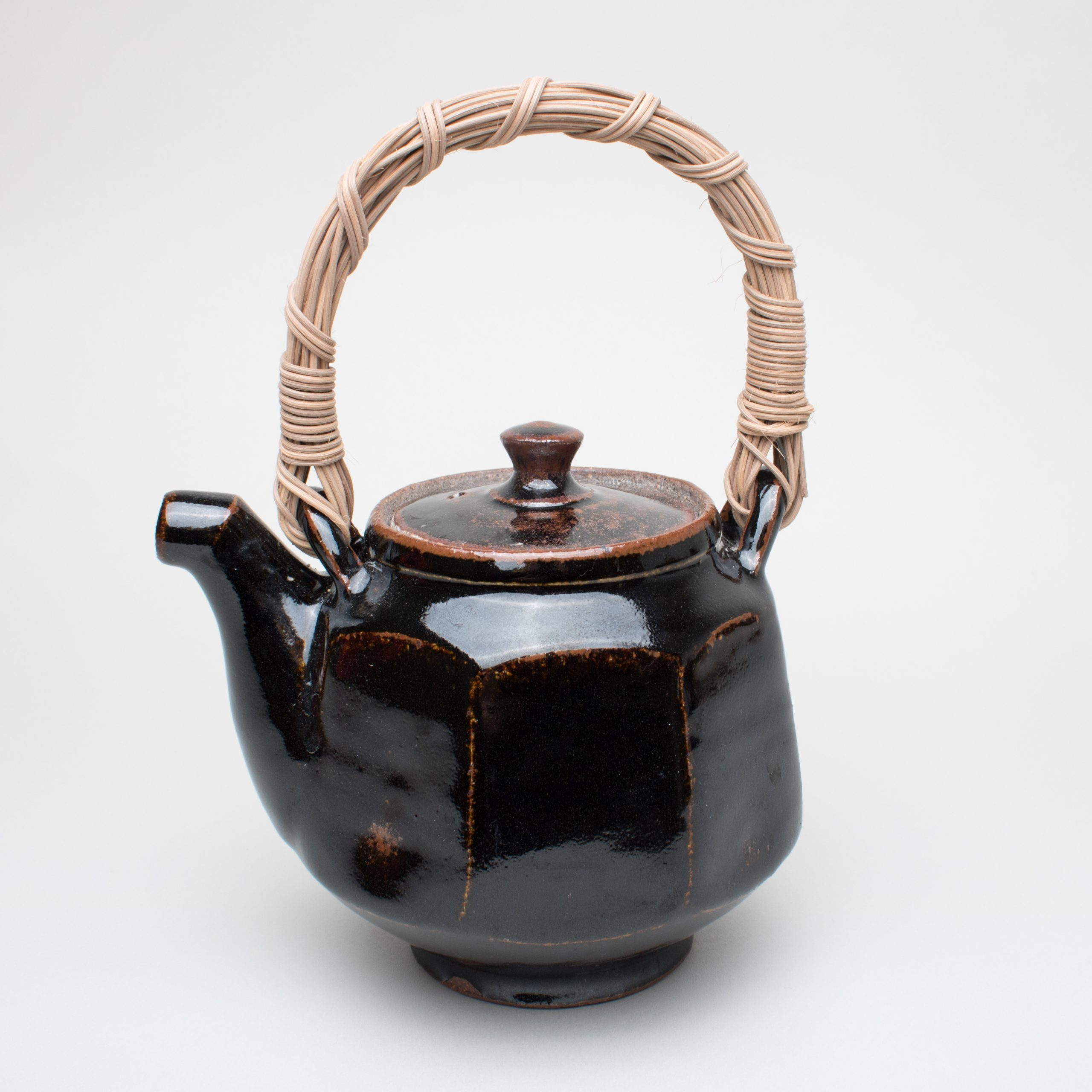 Faceted Teapot with Cane Handle